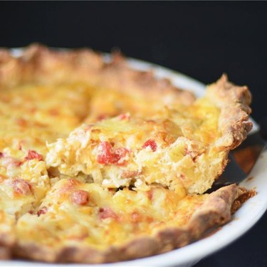 Bacon, Leek and Roasted Red Pepper Quiche Recipe   SideChef