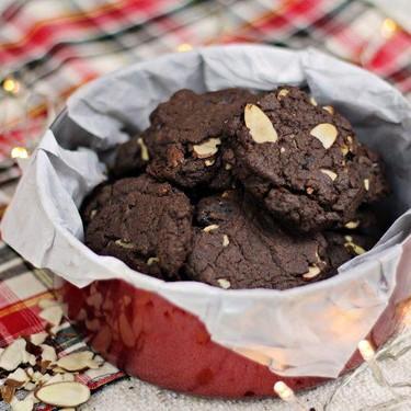 Double Chocolate Cranberry Almond Cookies Recipe   SideChef