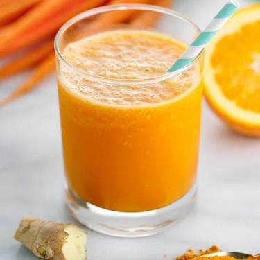 Carrot Orange Ginger Smoothie with Turmeric Recipe | SideChef