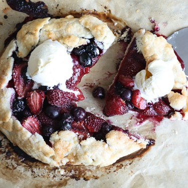 Red, White and Blueberry Galette Recipe | SideChef