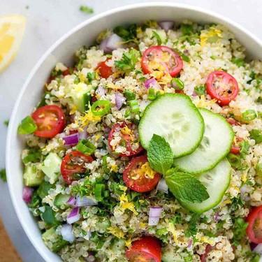 Quinoa Tabbouleh with Lemon Garlic Dressing Recipe | SideChef