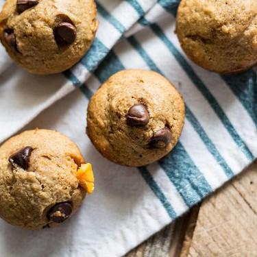 Healthy Butternut Squash Mini Muffins with Dark Chocolate Chips Recipe | SideChef