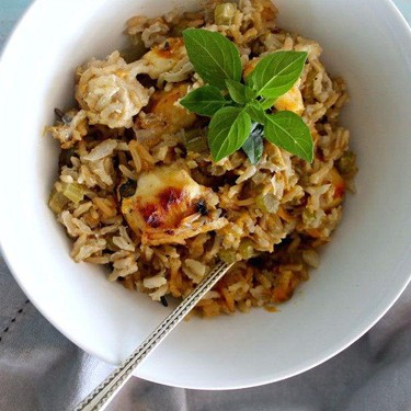 One-Pan Creamy Basil Chicken and Rice Casserole Recipe | SideChef