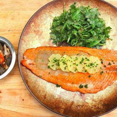 Baked Wild Sockeye Salmon With Baby Arugula Recipe   SideChef
