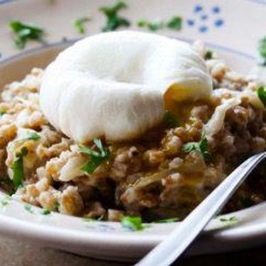 Barley Risotto with Fennel and Poached Egg Recipe   SideChef