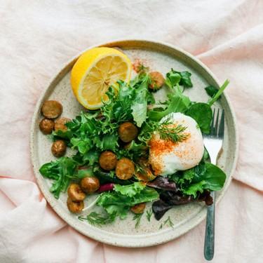 Breakfast Salad with Maple Chicken Sausage Recipe   SideChef