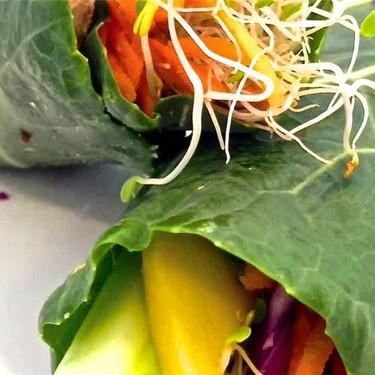 Gluten-Free Hummus Collard Wraps Recipe   SideChef