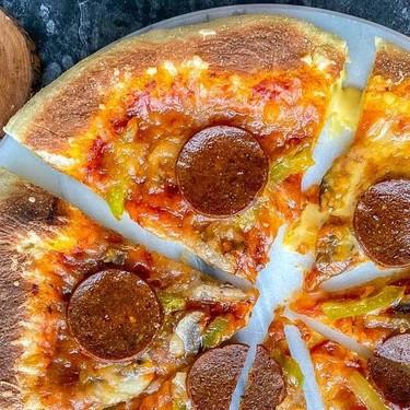 Vegan Pepperoni Stuffed Crust Pizza Recipe | SideChef