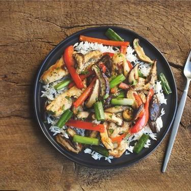 Thai Ginger Chicken with Jasmine Rice Recipe | SideChef
