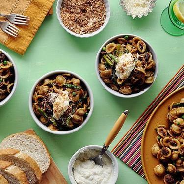 Orecchiette with Asparagus and Sausage Recipe | SideChef
