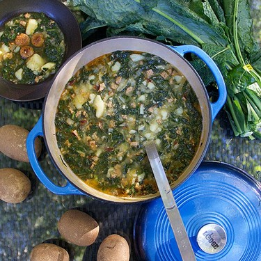 Portuguese Sausage Kale Potato Soup Recipe | SideChef