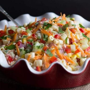 Easy Summer Rainbow Pasta Salad Recipe | SideChef
