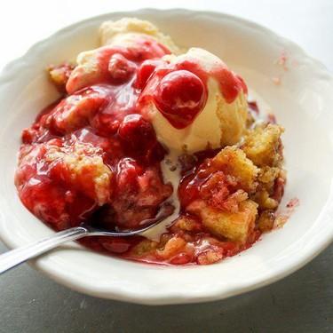 Cinnamon Cherry Crockpot Cobbler Recipe   SideChef