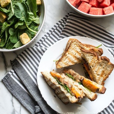 Grilled Veggie Sandwich with Aged Cheddar Recipe   SideChef