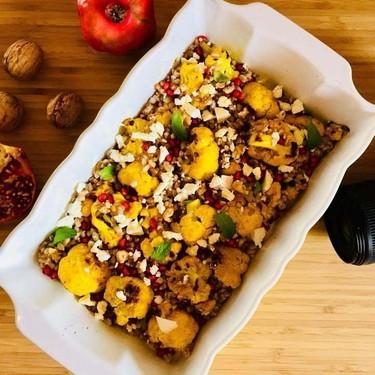Turmeric Cauliflower Barley and Pomegranate Salad Recipe | SideChef
