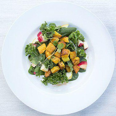 Green Salad with Roasted Winter Squash Recipe   SideChef