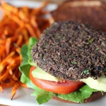 Black Bean Quinoa Burgers with Garlic Tahini Sauce Recipe | SideChef