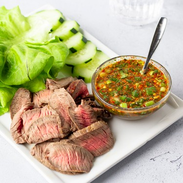 Crying Tiger (Steak Wraps with Spicy Dipping Sauce) Recipe | SideChef