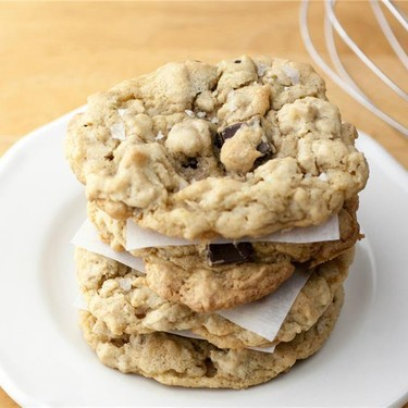 Salted Peanut Butter Chocolate Chip Oatmeal Cookie Recipe   SideChef