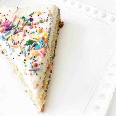 Skinny Funfetti Cake with Buttercream Frosting Recipe   SideChef