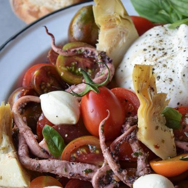 Antipasti Salad with Marinated Tomatoes Recipe | SideChef