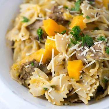 Butternut Squash Mushroom Farfalle Pasta Recipe   SideChef
