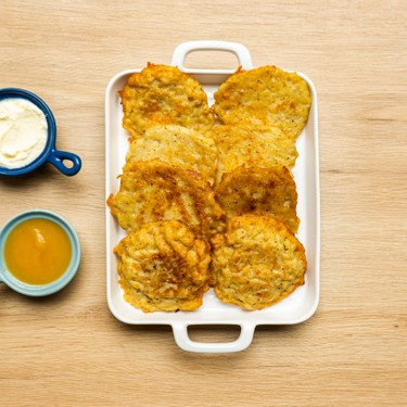 Three Cheese Stuffed Latkes Recipe | SideChef