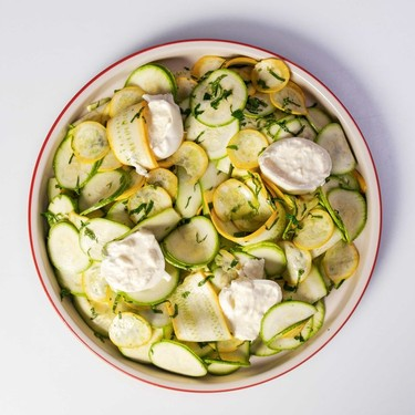 Zucchini, Mint, Lemon & Burrata Salad Recipe   SideChef