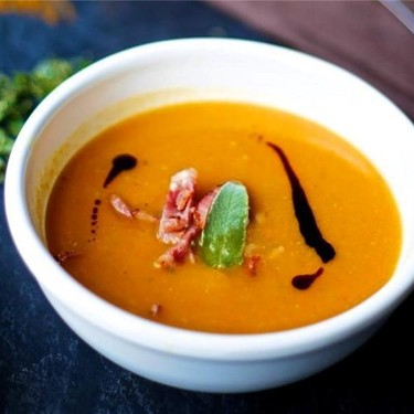 Acorn Squash Soup with Sage and Beef Bacon Recipe   SideChef