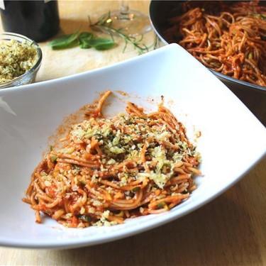 Spaghetti Marinara with Garlic Breadcrumbs Recipe   SideChef