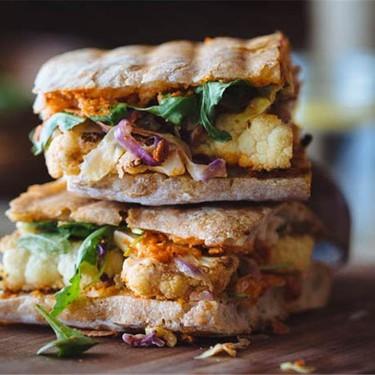 Vegan Cauliflower Steak Sandwich w/ Romesco Sauce Recipe   SideChef