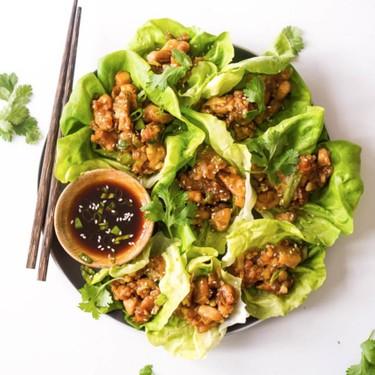 Paleo Chicken & Scallion Lettuce Wraps Recipe   SideChef