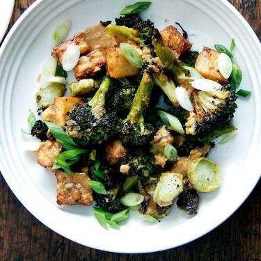 Crispy Tofu and Broccoli with Sesame-Peanut Pesto Recipe | SideChef