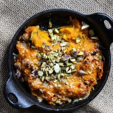 Warm Butternut Squash Dip with Gruyere and Pistachios Recipe | SideChef