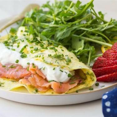 Lox, Dill and Goat Cheese Yogurt Omelette Recipe   SideChef