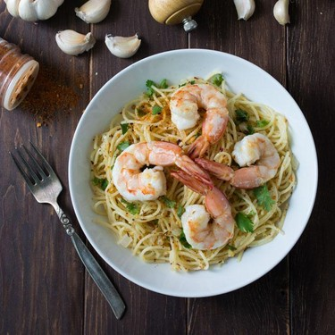 Mojo de Ajo Shrimp Pasta Recipe | SideChef