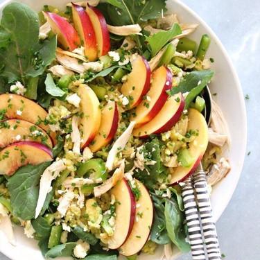 Avocado Wild Rice Nectarine Chicken Salad Recipe   SideChef