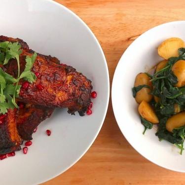 Goan Tandoori Pork Ribs with Aloo Palak Recipe   SideChef