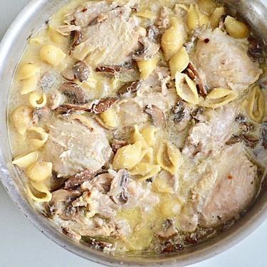 Asiago Cream Chicken Pasta Recipe | SideChef