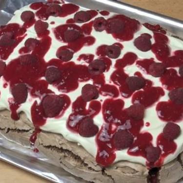 Chocolate Raspberry Pavlova Recipe | SideChef