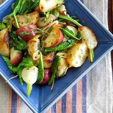 Turnips, Potatoes and Greens Recipe   SideChef