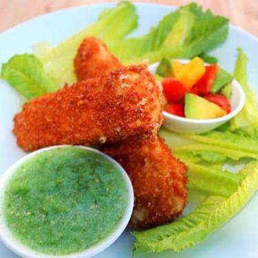 Fried Camembert with Avocado Salad, Salsa Verde, and Crisp Romaine Leaves Recipe | SideChef
