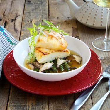 Miso Glazed Sea Bass with Dashi Broth Recipe   SideChef