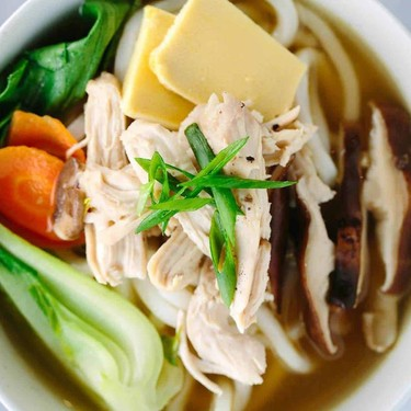 Chicken Udon Soup with Bok Choy Recipe | SideChef