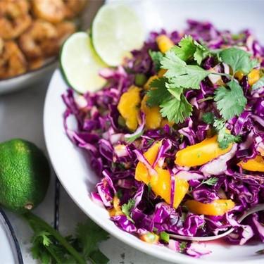 Caribbean Cabbage Mango Slaw Recipe   SideChef