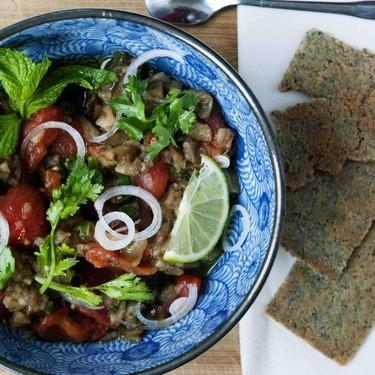 Roasted Eggplant and Tomato Dip Recipe | SideChef