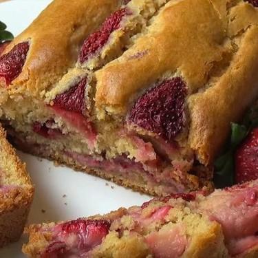 Strawberry Loaf Cake Recipe   SideChef