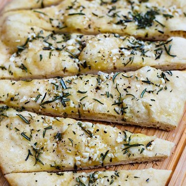 Grilled Garlic Rosemary Focaccia Recipe | SideChef