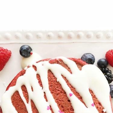 Skinny 'Quick and Easy' Red Velvet Pancakes Recipe | SideChef