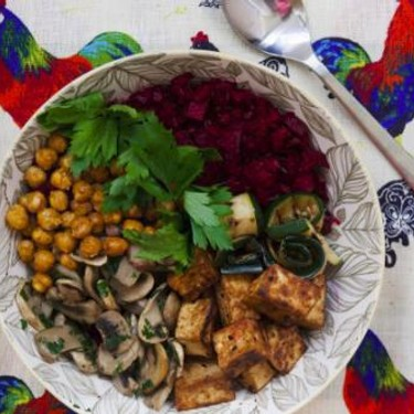 Buddha Bowl with Beet Rice Recipe   SideChef